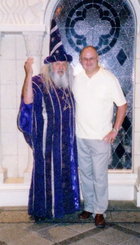Bob meeting Merlin at The Excalibur, Las Vegas @ Tolfalas.com