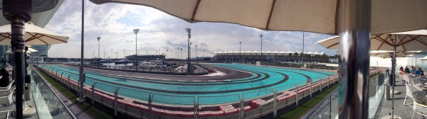 Yas Circuit Turn19 Panorama from the Yas Viceroy