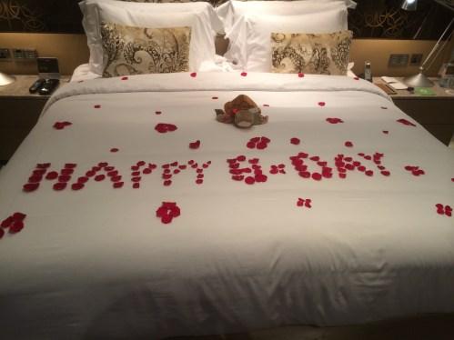 Birthday Greetings at the Jumeirah Etihad Towers - at Tolfalas.com