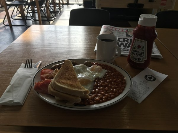 British Breakfast at the Ace Cafe, London