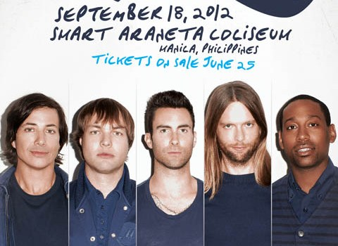 Maroon 5 Jagger Live in Manila 2012 with the Cab