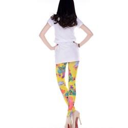 56f29638e65 Women s Fashion Colorful Flowers Print Leggings L5393