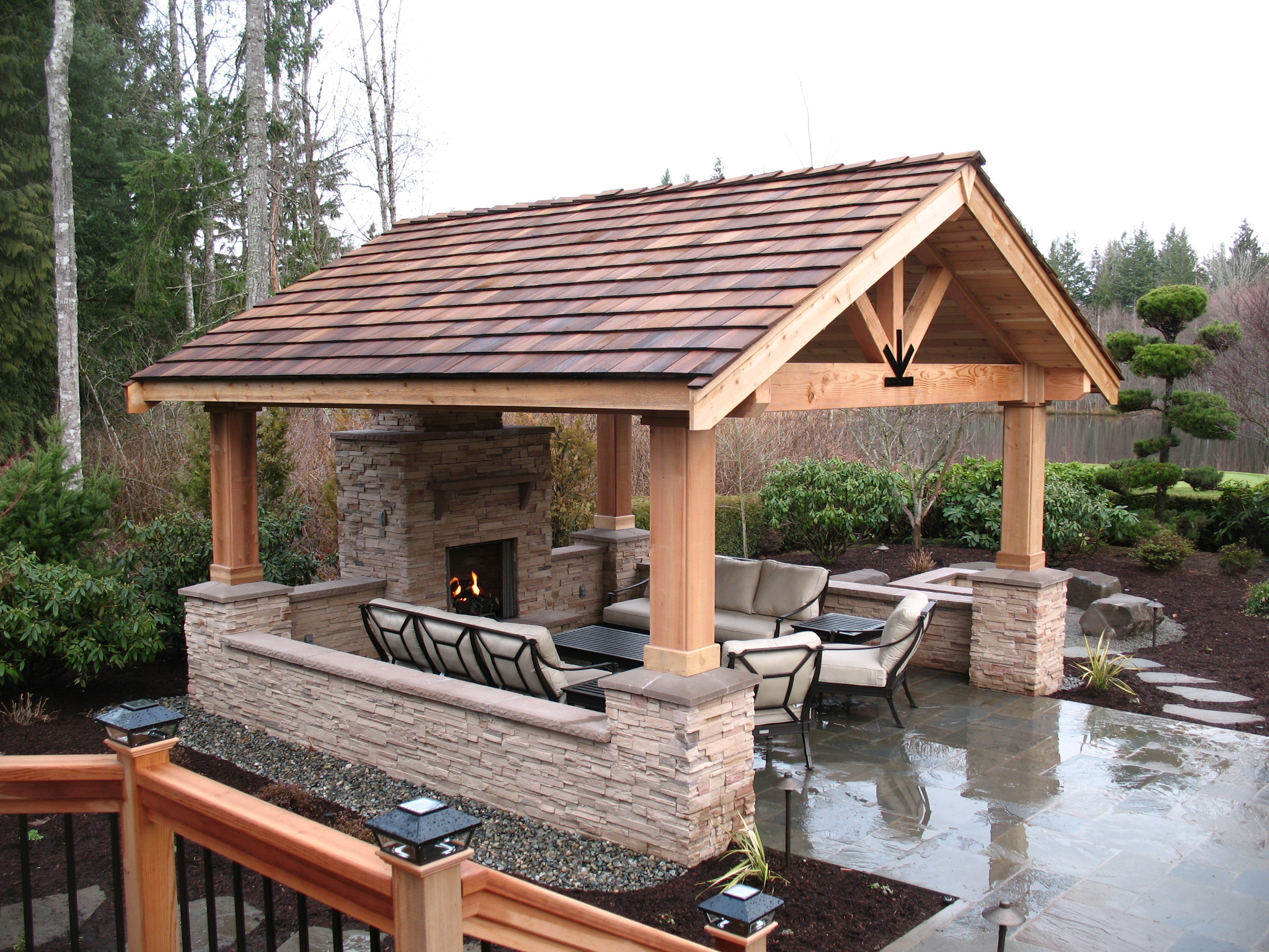 COVERED PATIOS - Malone's Landscape on Covered Outdoor Living Area id=13556