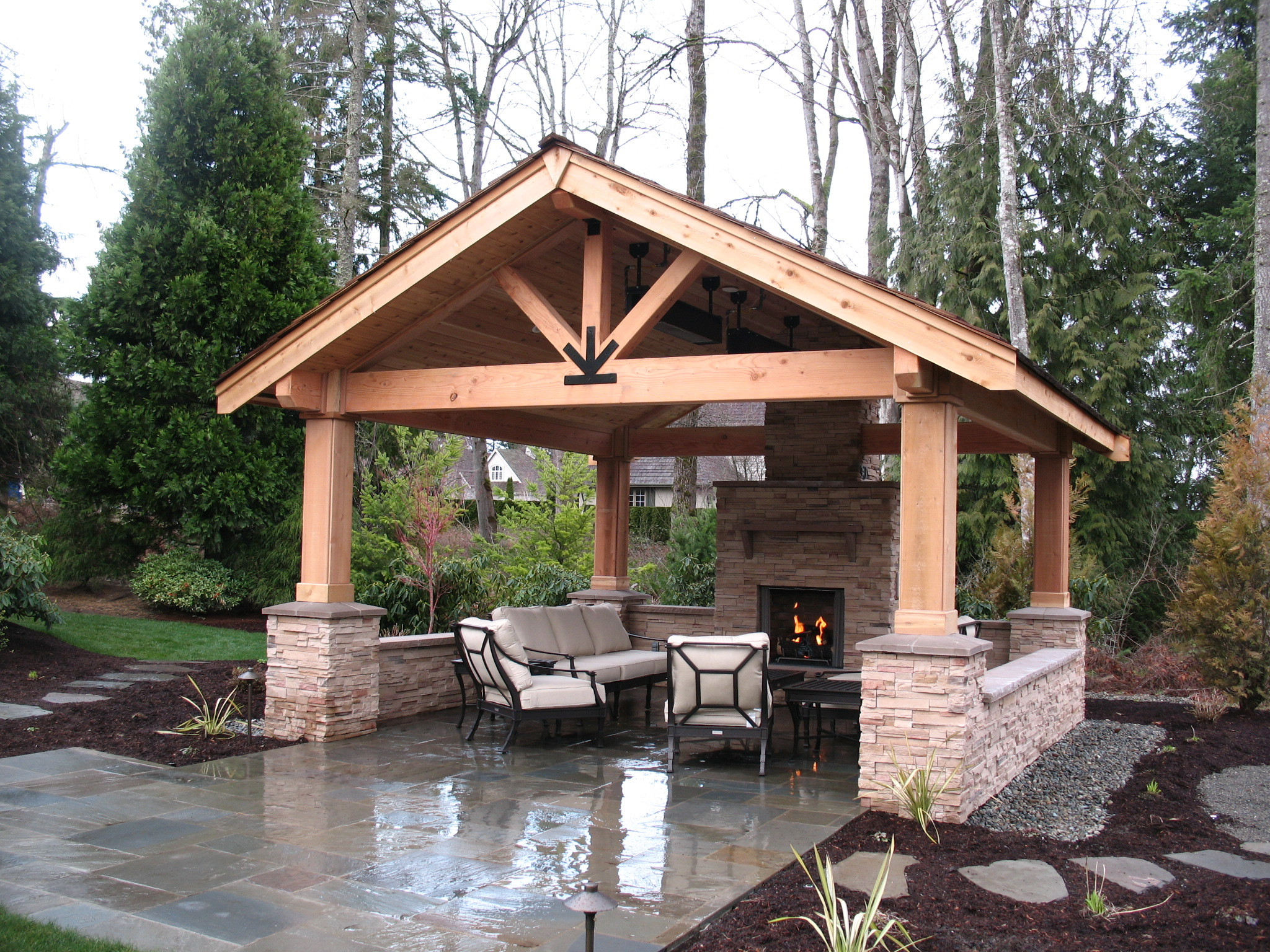 COVERED PATIOS - Malone's Landscape on Covered Outdoor Living Area id=13070