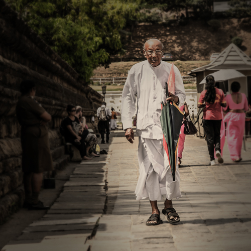 Heading back from the Temple