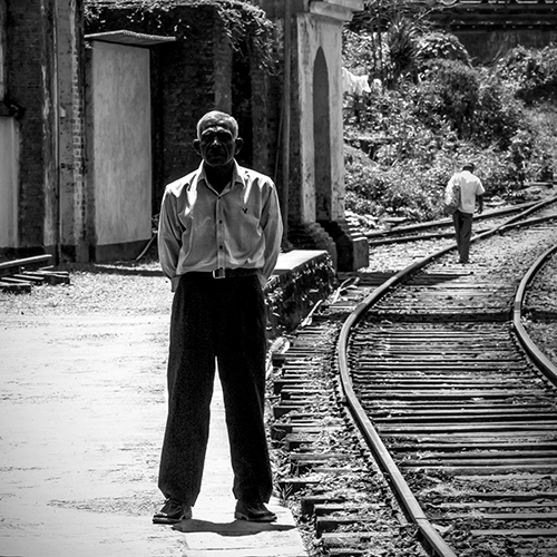 Man at Haputale train station
