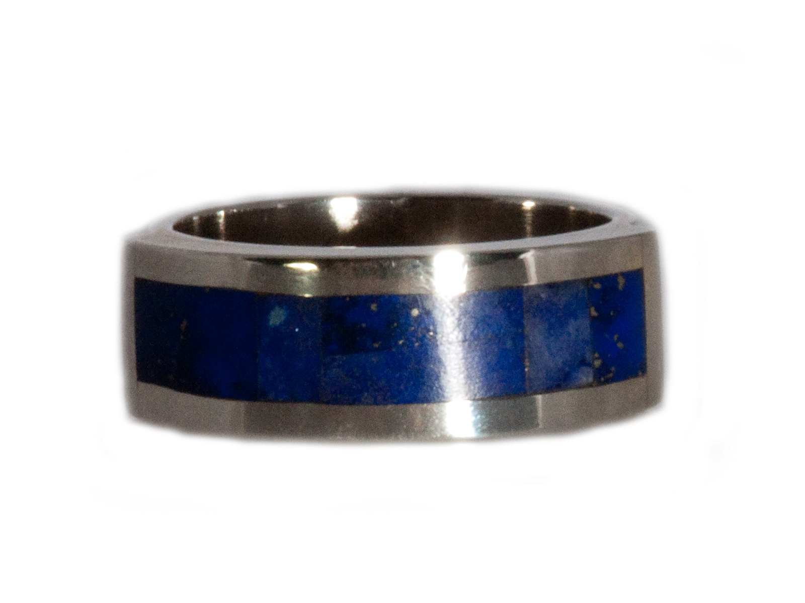 Lapis Inlay Ring In Sterling Silver By Stewart Yellowhorse