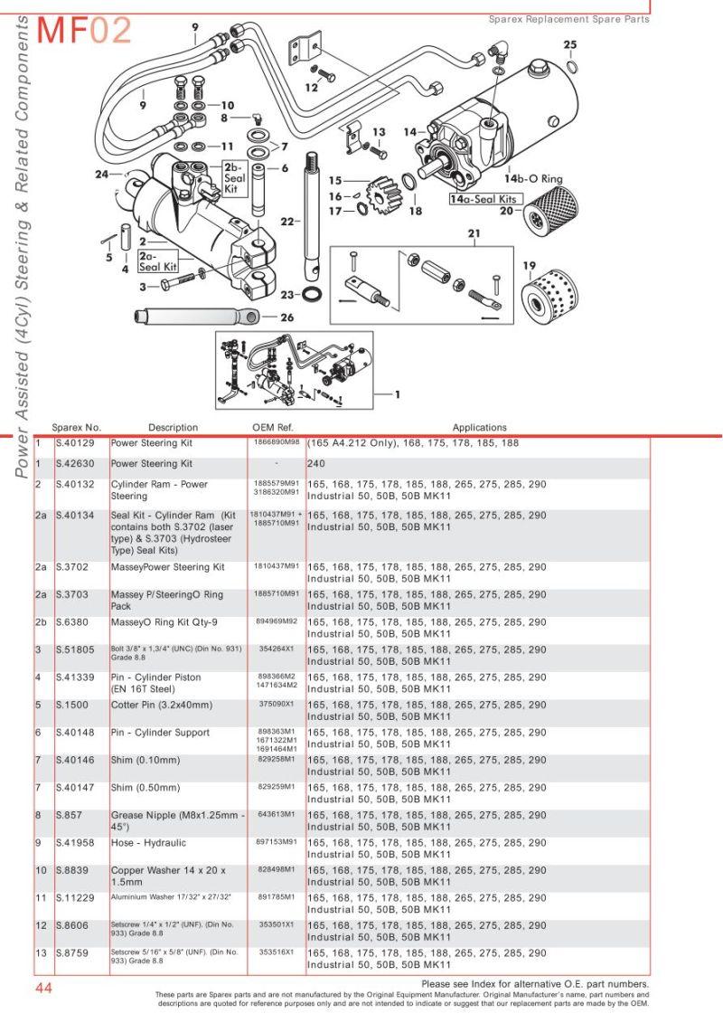 275 Massey Ferguson Power Steering Pump Diagram Search For Wiring