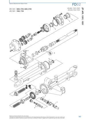 Ford Front Axle (Page 69) | Sparex Parts Lists & Diagrams | Malpasonlinecouk