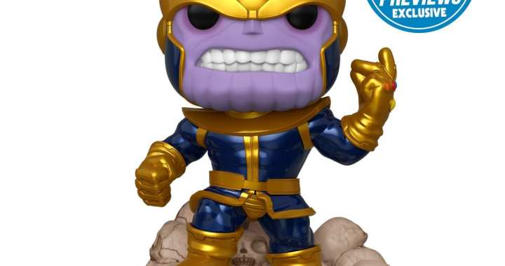 Colossal 6″ PREVIEWS Exclusive Thanos Deluxe Pop! Snaps into MaltaComics