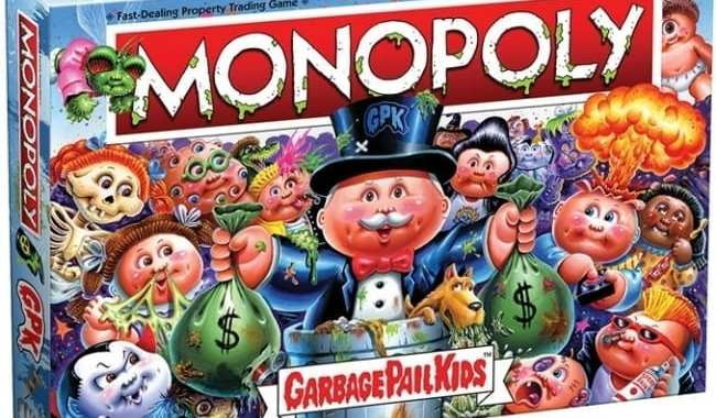 USAOPOLY (THE OP) OFFERS IRREVERENT 80'S NOSTALGIA WITH 'MONOPOLY: GARBAGE PAIL KIDS'