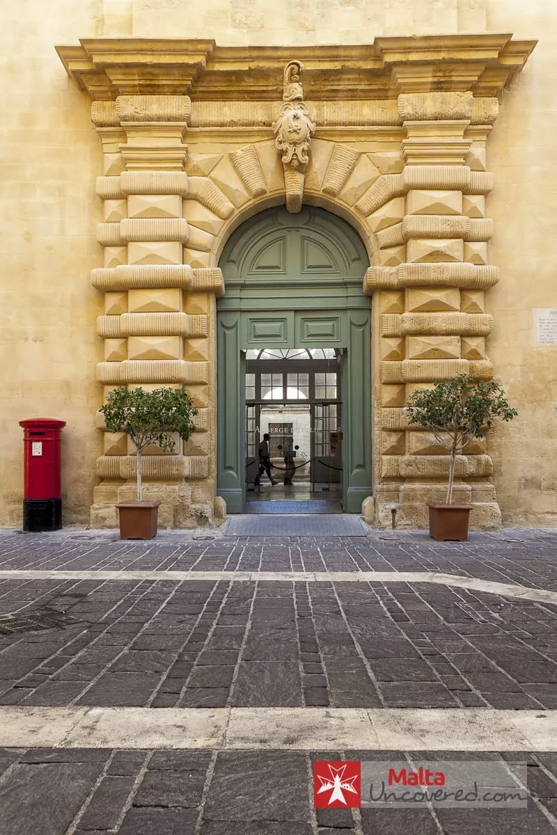 Entrance of Auberge d'Italie - the future home of MUŻA (Art Museum)