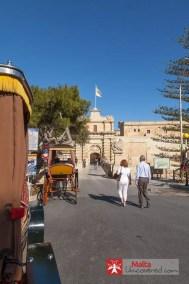 Mdina's main gate and entrance