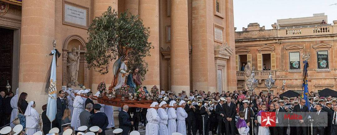 The Good Friday procession at Mosta