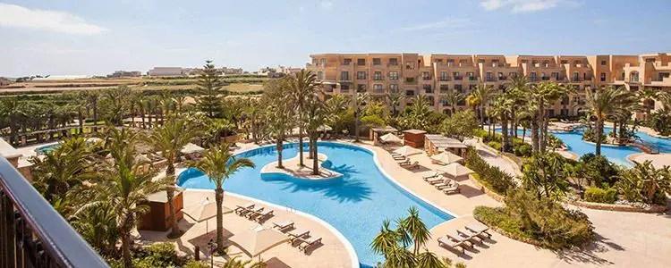 The Kempinski San Lawrenz hotel, located in the centre of island Gozo