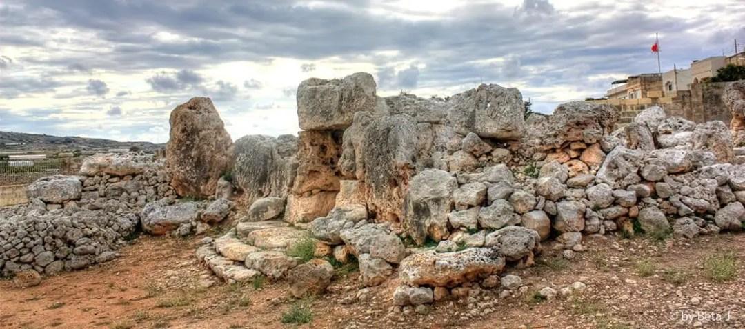 The Ta' Ħaġrat Temples on the outskirts of Mġarr.