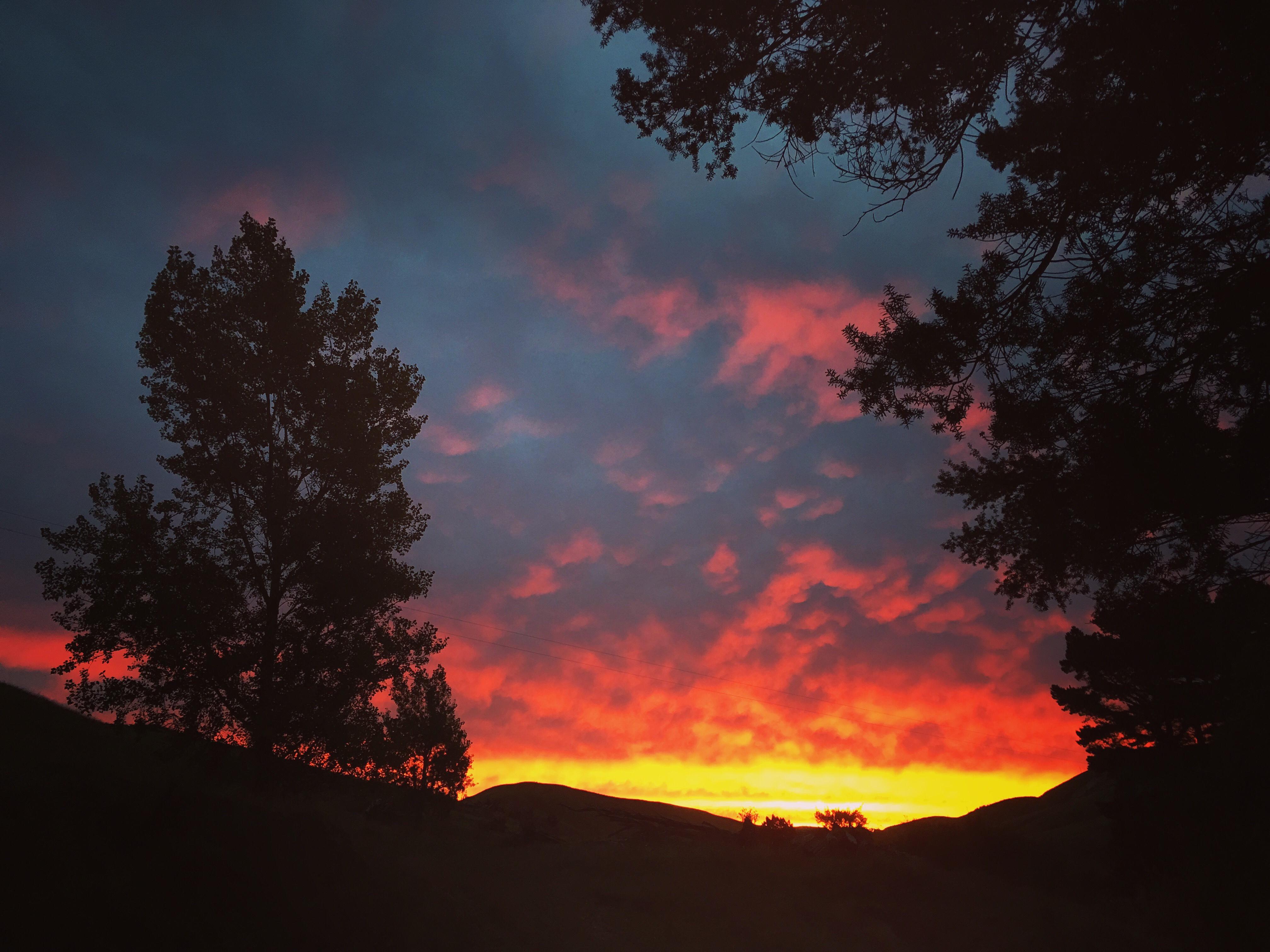 ニュージーランドの夕焼け