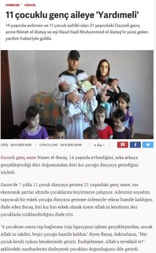 11 çocuklu aile