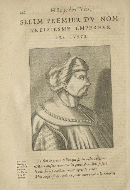 1662 Tarihli Histoire Des Turcs Adlı Kitapta Yer Alan Yavuz Sultan Selim'i Küpeli Gösteren Resim