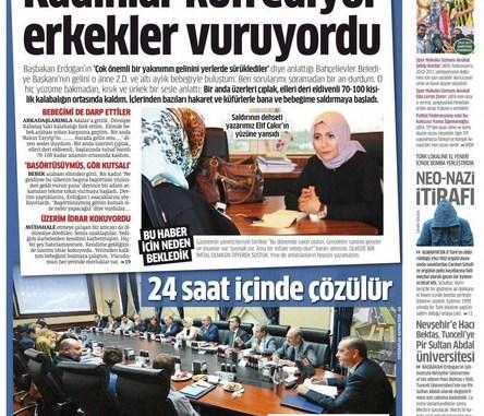 Kabatas Saldirisi Star Gazetesi Manseti