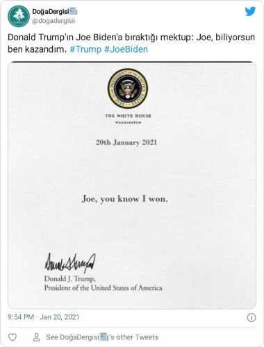 abd başkanı sahte mektup