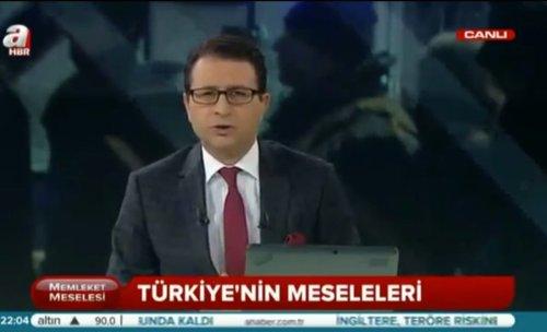 """A Haber'in """"Türkiye'nin meseleleri"""" alt bandını içeren ekran görseli"""