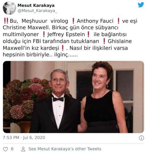 Anthony Fauci Ghislaine Maxwell