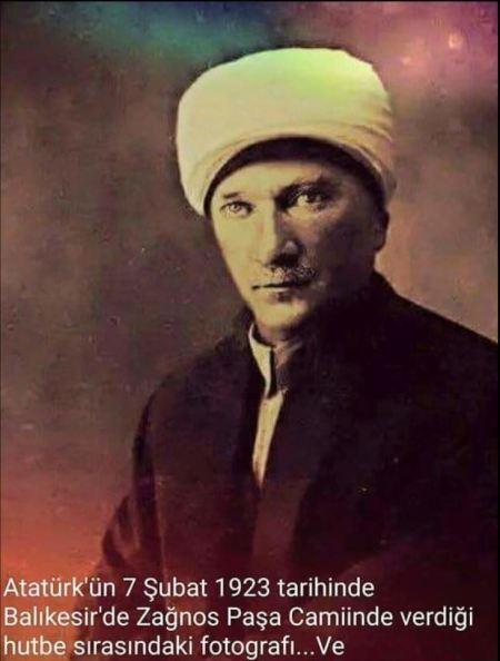 Atatürk'ün Balıkesir Hutbesi Sırasında Çekildiği Öne Sürülen Montaj Fotoğraf