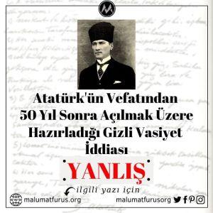 Atatürk'ün gizli vasiyeti