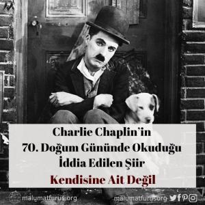 Charlie Chaplin'in 70. yaş şiiri iddiası