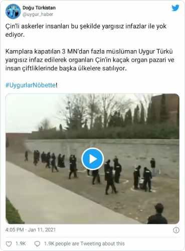 çin doğu türkistan infazı