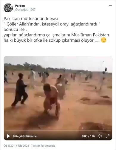 çöller Allah'ındır isteseydi orayı ağaçlandırırdı