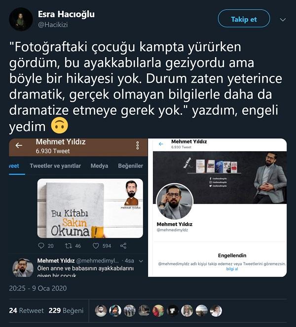 Esra Hacıoğlu'nun Mehmet Yıldız'ın fotoğraf hakkındaki iddiasının doğruluk payının bulunmadığını açıkladığı paylaşımı