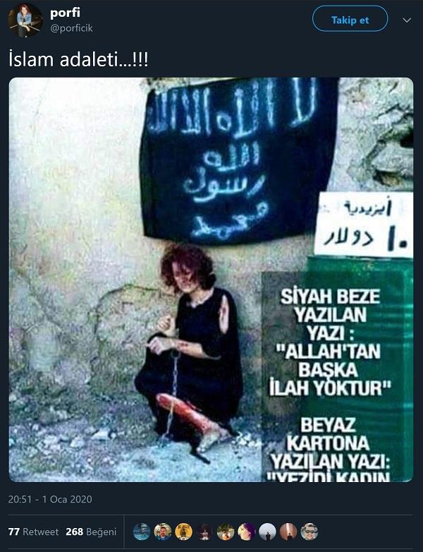 IŞİD tarafından 10 dolara satılan kadına ait sanılan fotoğrafı içeren paylaşım