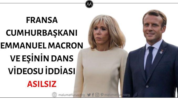 Videoda Dans Eden Kişilerin Fransa Cumhurbaşkanı Emmanuel Macron ve Eşi Brigitte Macron Olduğu İddiası Asılsız