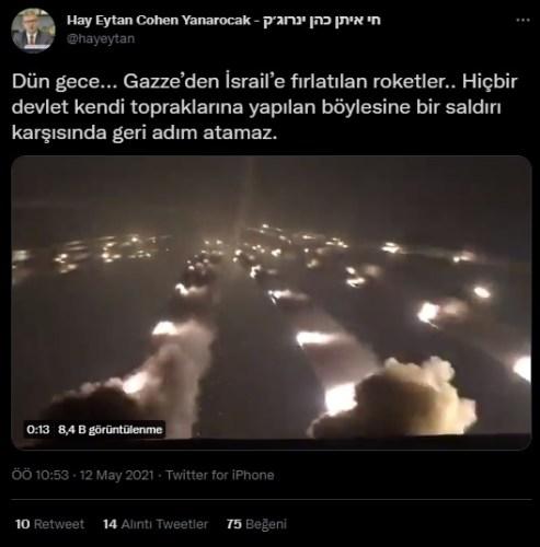 gazzeden israile fırlatılan roketler