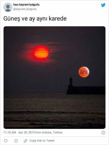 güneş ay aynı karede