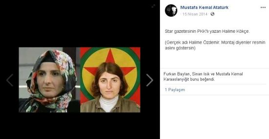 Halime Kökçe'nin aslında PKK militanı olduğunu öne süren paylaşım