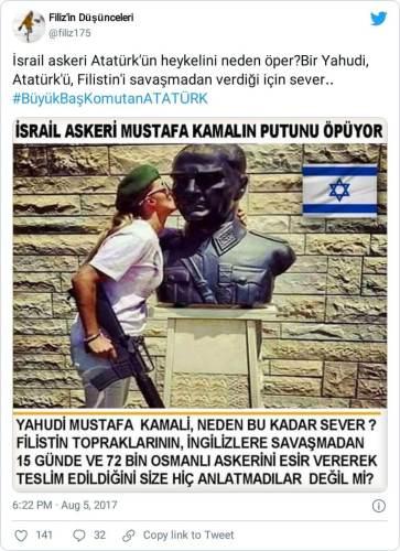 israil askeri atatürk heykeli
