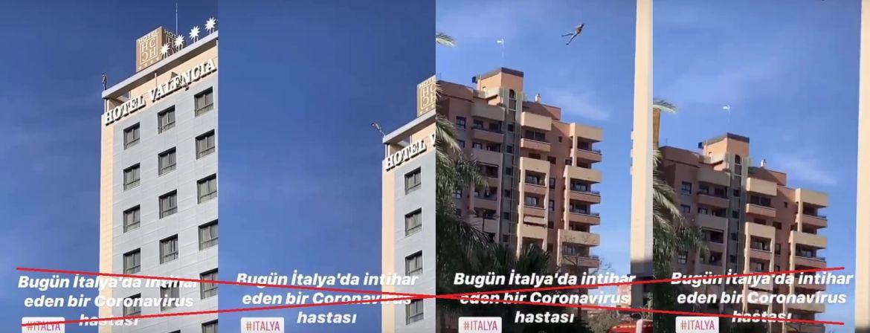 İtalya'da koronavirüs intiharına ait olduğu iddiasıyla paylaşılan videodan kareler
