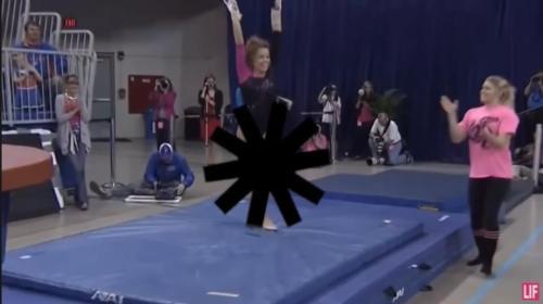 kadın jimnastikçi sansür