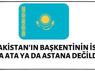 Kazakistan'ın Başkenti'nin Adının Alma Ata Olduğu İddiası Doğru Değil