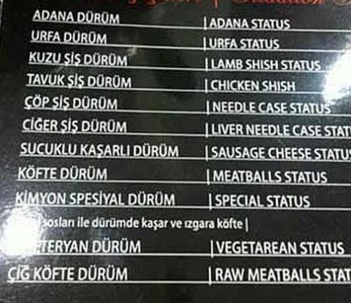 köfte durum meatballs status