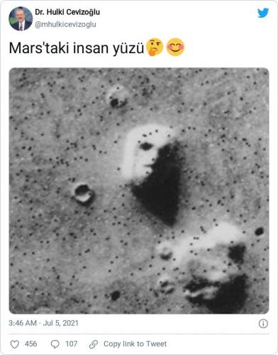 marstaki insan yüzü