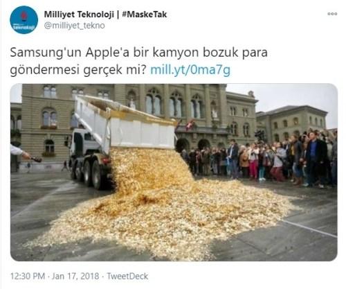 apple samsung bozuk para