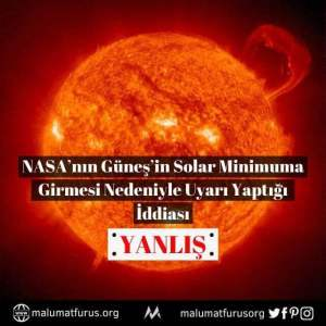nasa güneş solar minimum