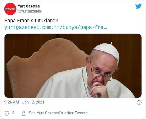 papa francis tutuklandı haberi