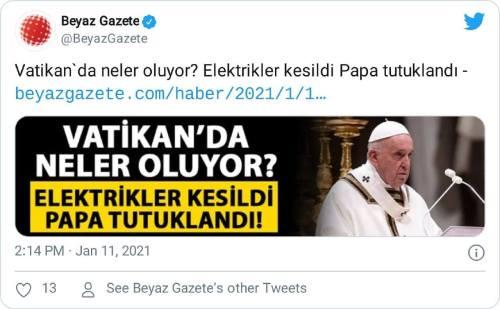 papa tutuklandı iddiası