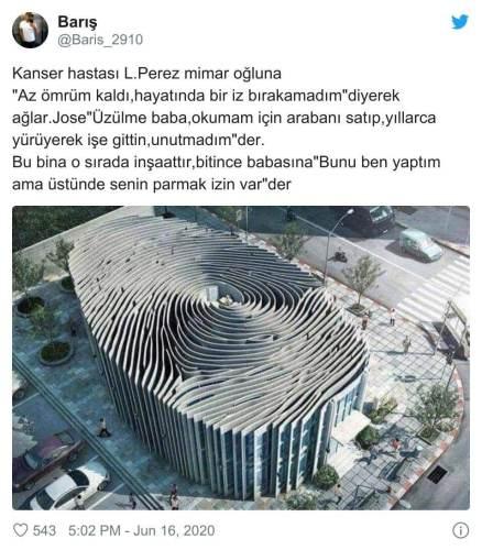 parmak izi şeklinde bina hikayesi