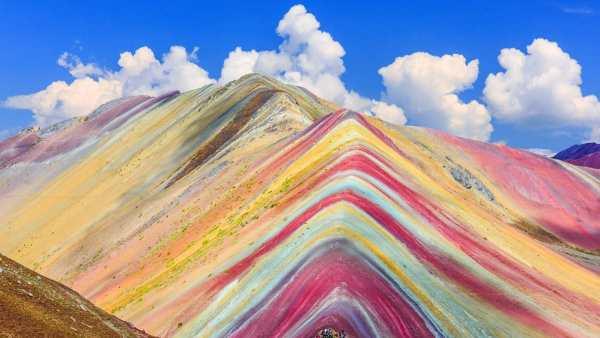 Peru'daki Vinicunca Gökkuşağı Dağları